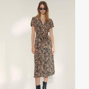 ARITZIA Wilfred Leopard shirt dress